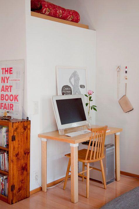 北欧风格35坪米小公寓书房装修效果图