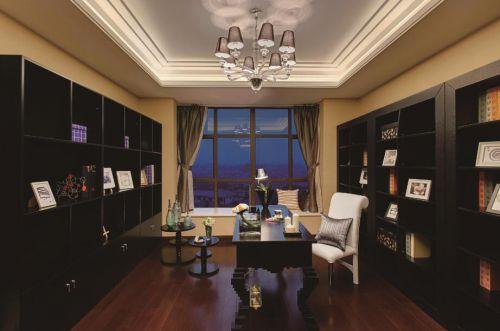 新古典复式风书房装饰图片