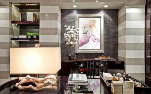 121平舒适新古典风格书房设计