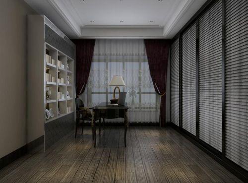130平奢华新古典三居装修书房效果图
