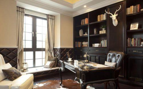 法式新古典装修风格书房图片
