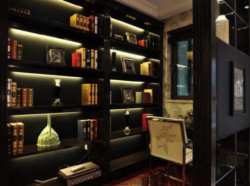 欧式新古典风格书房书架效果图