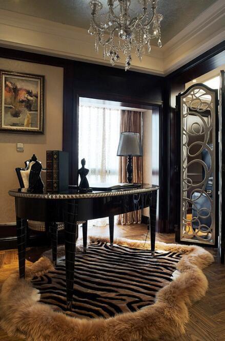 新古典风格书房地毯效果图