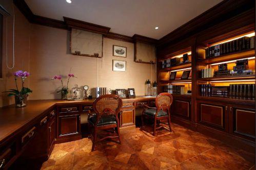 书房整体书柜法式装饰装修效果图