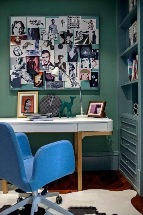 94平混搭书房照片墙图片