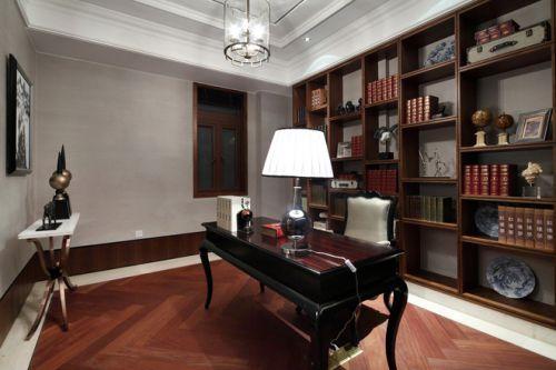 央筑花园别墅古典风格书房设计