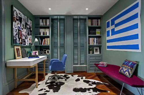 混搭风格书房照片墙装修图片