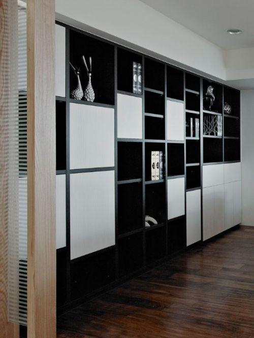 75平米舒适混搭风格二居室书房书柜效果图