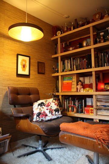 97平米温馨混搭风格书房书柜设计图片