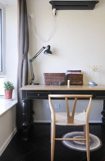 混搭小清新书房书桌设计