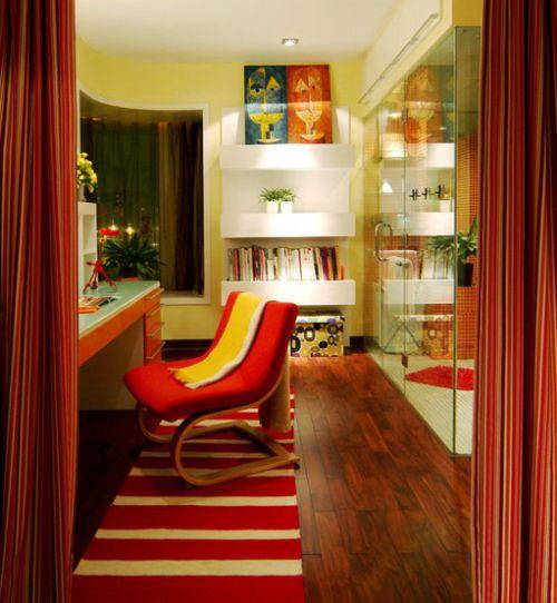 时尚混搭室内书房设计装修