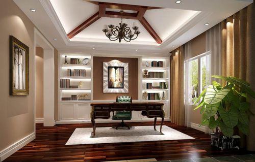 潮白河孔雀城书房装饰图片