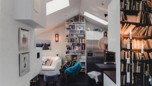别致混搭风阁楼书房设计