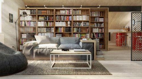 混搭风格家居书房设计效果图