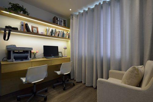 温馨混搭三居室书房装修设计