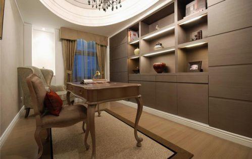 简洁欧式风格书房装修图片