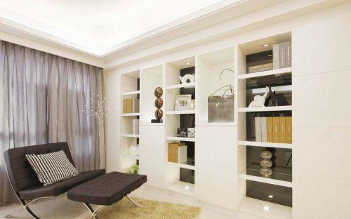 时尚简欧风格书房书柜设计