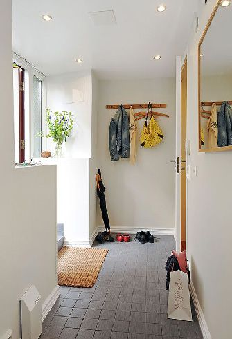 北欧风白色复古公寓衣帽间过道设计