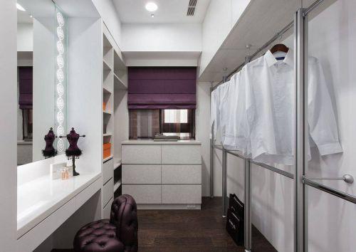 欧式四居衣帽间步入式衣柜图片设计