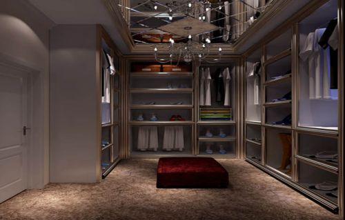 187平四居室欧式古典风格衣帽间装修效果图