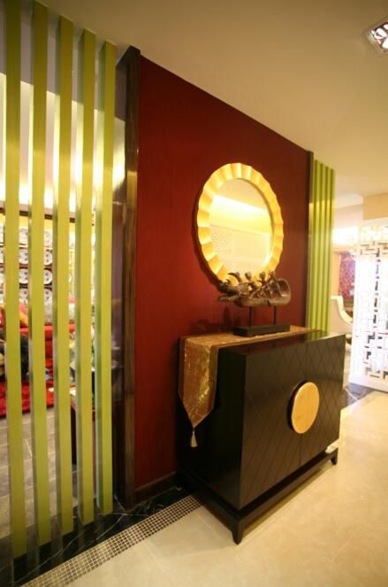 103平时尚中式风格别墅玄关设计效果图