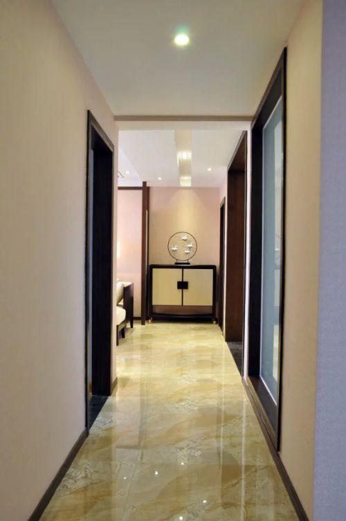 中式地面家装走廊效果图