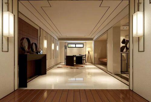 142平米中式风格玄关吊顶设计