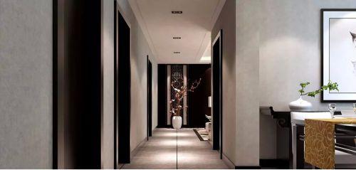 92平米新中式风格玄关装修效果图
