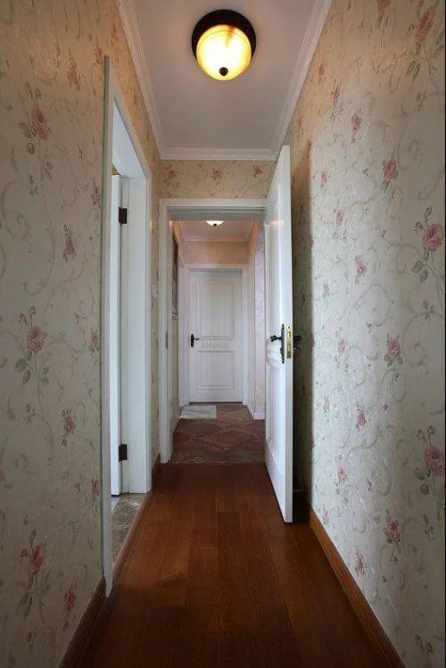 美式风格过道装修壁纸墙欣赏