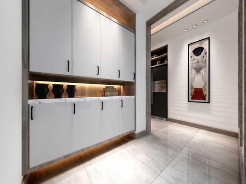 新中式设计玄关背景墙效果图