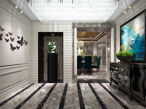 美式别墅玄关设计欣赏