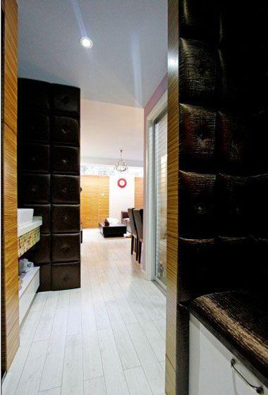 温馨简约婚房玄关进门过道设计