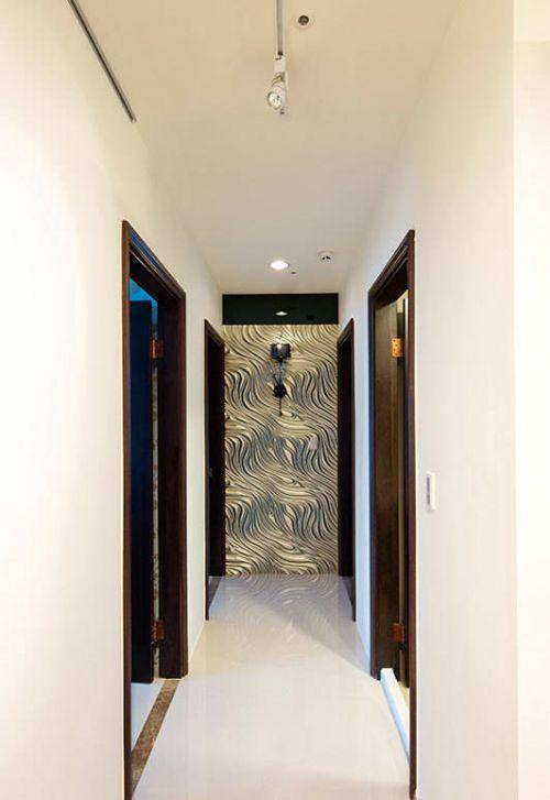 混搭三居走廊背景墙装修设计