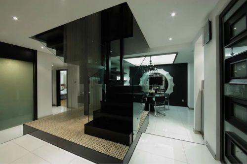 现代室内吊顶楼梯设计装修图