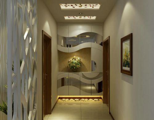 110平米实用现代风格玄关吊顶效果图
