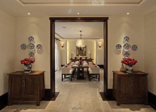 97平新东南亚风格别墅玄关设计图片