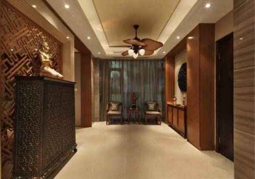 东南亚玄关吊顶装修效果图设计