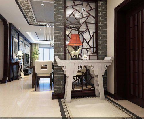东南亚两居室玄关隔断设计
