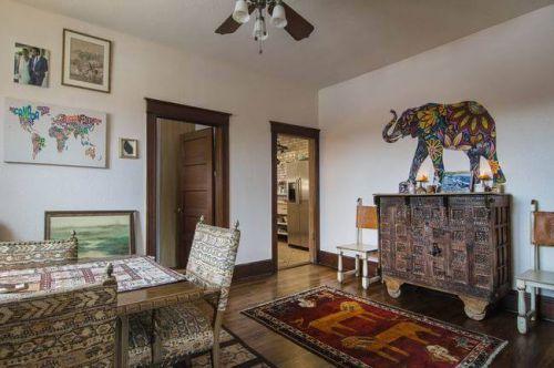 东南亚复古风玄关背景墙图片