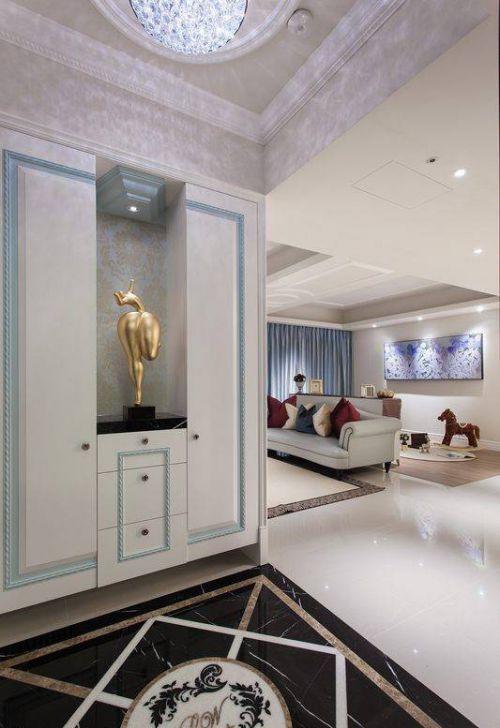 欧式玄关收纳柜装修设计案例