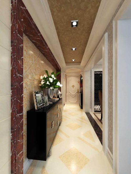 现代欧式风格两居室玄关吊顶设计