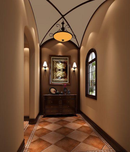 欧式古典风格别墅玄关装修设计