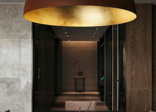 现代时尚美式风格三居室装修玄关效果图