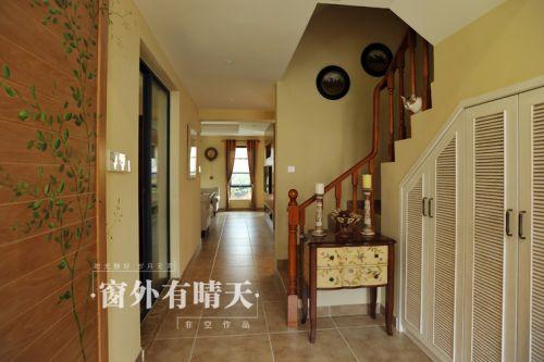 117平美式乡村风格玄关设计