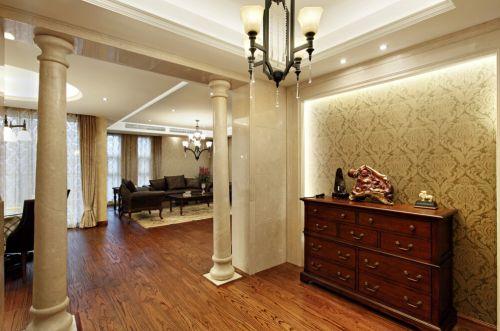 127平简约美式3居室玄关设计