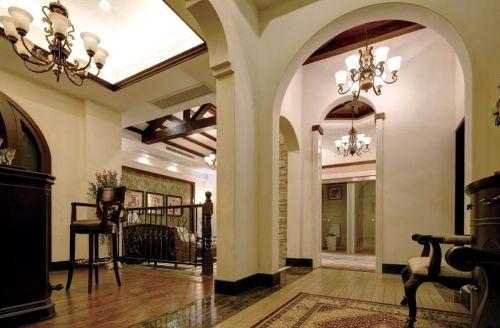 优雅古典美式玄关装修设计