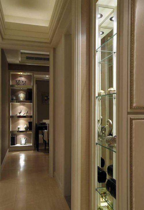 美式二居走廊展示柜装修设计图片