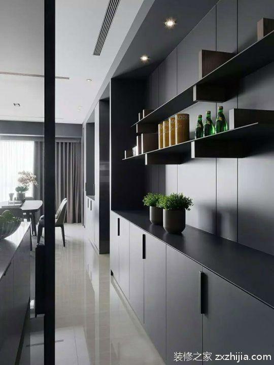 灰色簡單大氣現代簡約風格客廳裝修效果圖