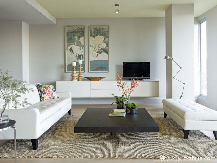 90平小户型简欧客厅沙发装修效果图图片