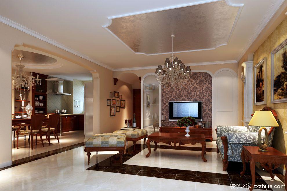 现代90平小户型简约装修客厅实景图图片